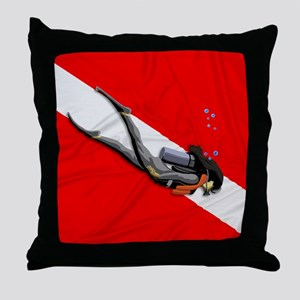 Dive Flag Throw Pillow
