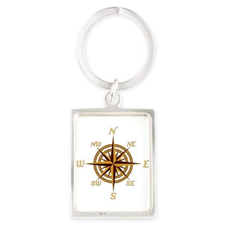 Vintage Compass Rose Keychains