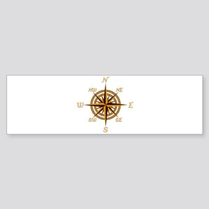 Vintage Compass Rose Bumper Sticker