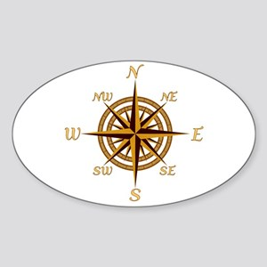 Vintage Compass Rose Sticker