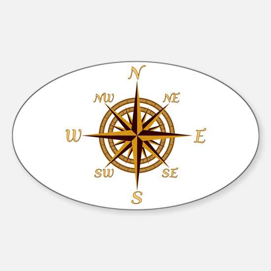 Vintage Compass Rose Decal