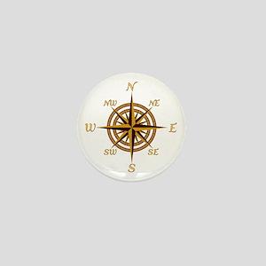 Vintage Compass Rose Mini Button