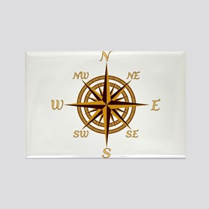 Vintage Compass Rose Rectangle Magnet