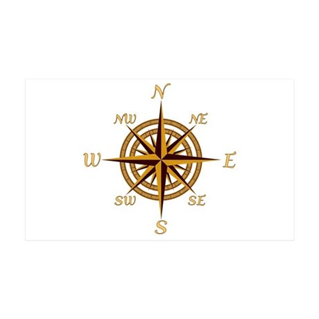 Vintage Compass Rose Wall Decal