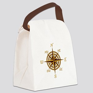 Vintage Compass Rose Canvas Lunch Bag