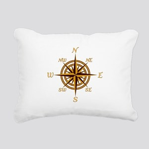 Vintage Compass Rose Rectangular Canvas Pillow