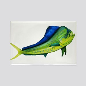 Bull Mahi Rectangle Magnet