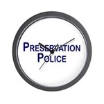 Preservation Police Wall Clock
