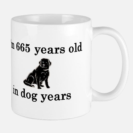 95 birthday dog years lab 2 Mug