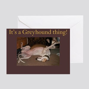 Greyhound Thing Greeting Cards (Pk of 10)