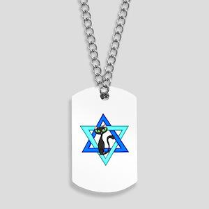 Jewish Cat Stars Dog Tags