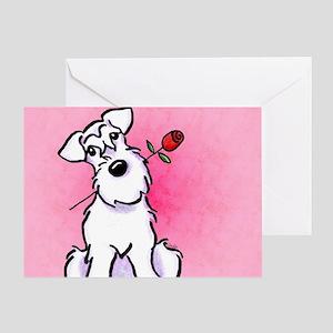 White Schnauzer Sweetheart Greeting Card