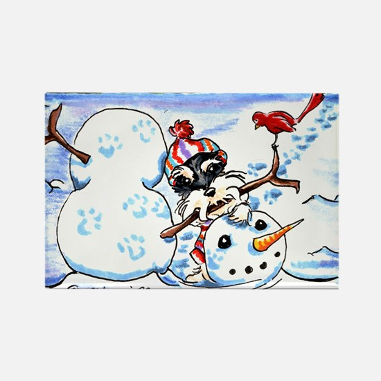 Schanzuer Snow Day Rectangle Magnet (100 pack)