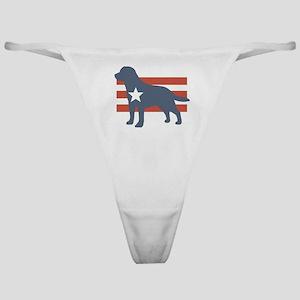 Patriotic Labrador Retriever Classic Thong