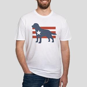 Patriotic Labrador Retriever Fitted T-Shirt