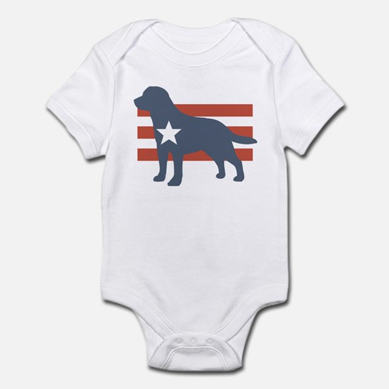 Patriotic Labrador Retriever Infant Bodysuit