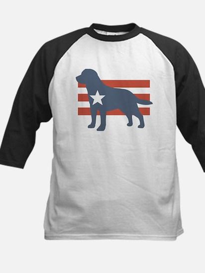 Patriotic Labrador Retriever Kids Baseball Jersey
