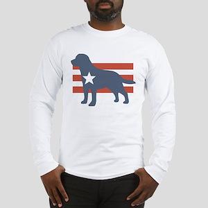 Patriotic Labrador Retriever Long Sleeve T-Shirt
