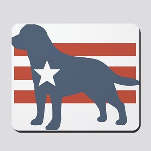 Patriotic Labrador Retriever Mousepad