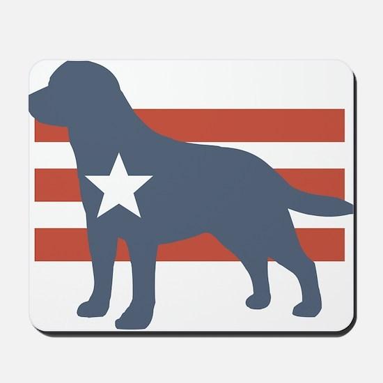 Patriotic Labrador Retriever Mousepad