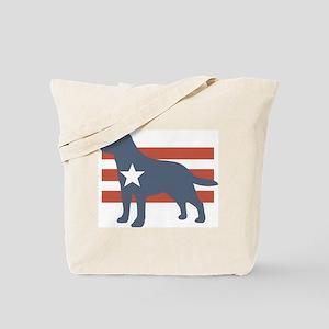 Patriotic Labrador Retriever Tote Bag