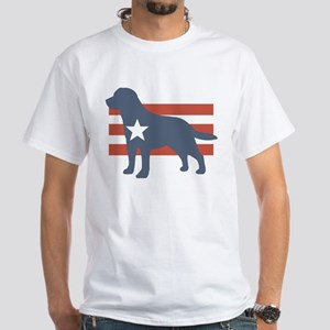 Patriotic Labrador Retriever White T-Shirt