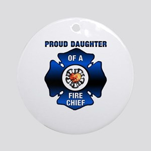 Fire Chiefs Daughter Ornament (Round)
