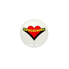 Geocaching Heart Mini Button (100 pack)
