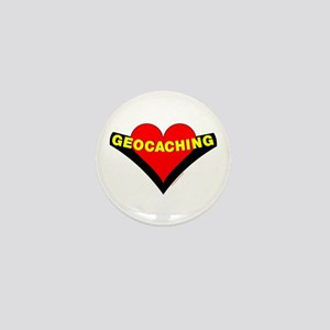 Geocaching Heart Mini Button
