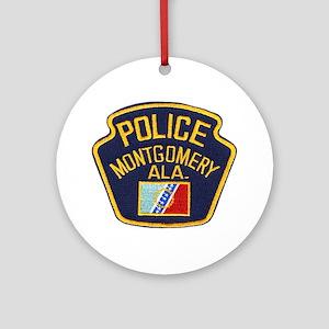 Montgomery Police Ornament (Round)