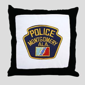 Montgomery Police Throw Pillow