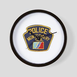 Montgomery Police Wall Clock