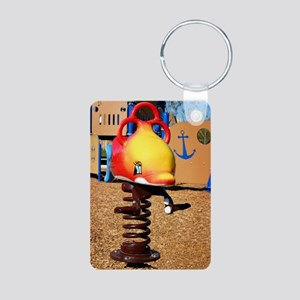 Fish Jumper Aluminum Photo Keychain