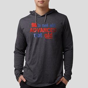 98th birthday designs Mens Hooded Shirt