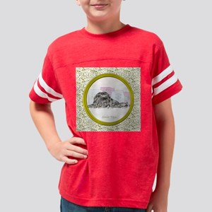 OvalOrnamentGoldClearFiligree Youth Football Shirt
