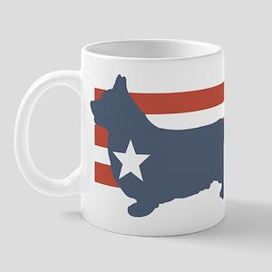 Patriotic Pembroke Welsh Corg Mug