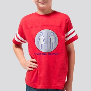 Democratic Voting Booth Youth Football Shirt