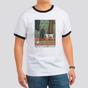 Dog Blamed Men's Ringer T