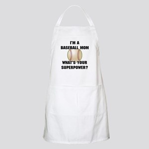 Baseball Mom Superhero Apron