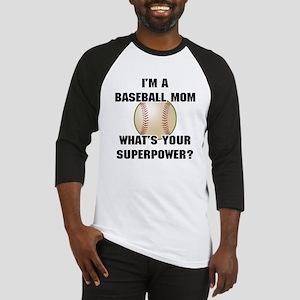 Baseball Mom Superhero Baseball Jersey