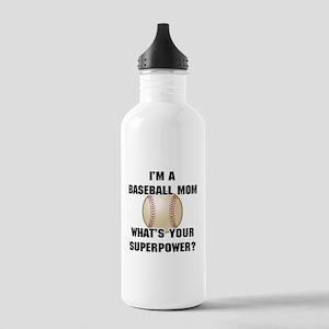 Baseball Mom Superhero Stainless Water Bottle 1.0L