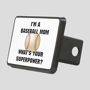 Baseball Mom Superhero Rectangular Hitch Cover