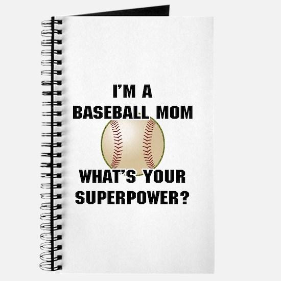 Baseball Mom Superhero Journal