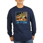 Lion of Judah 3 Long Sleeve Dark T-Shirt