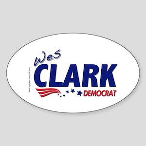 """Wes Dem"" Oval Sticker"