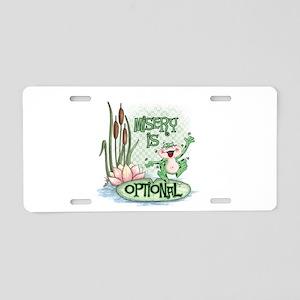 Froggie Aluminum License Plate