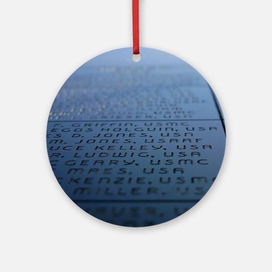 Oxnard Veterans Memorial Round Ornament