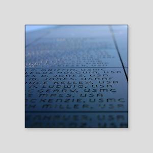 "Oxnard Veterans Memorial Square Sticker 3"" x 3"""