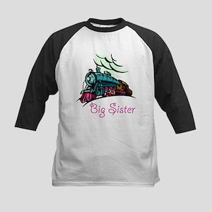 Big Sister Rolling Train Kids Baseball Jersey