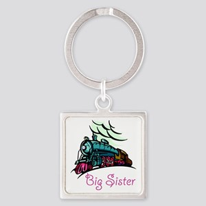 Big Sister Rolling Train Square Keychain